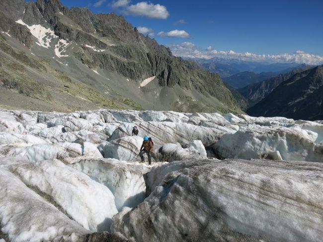 Randonnée glaciaire au glacier blanc.