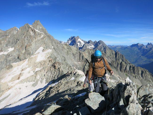 Arrivée au sommet du pic du glacier d'arsine.