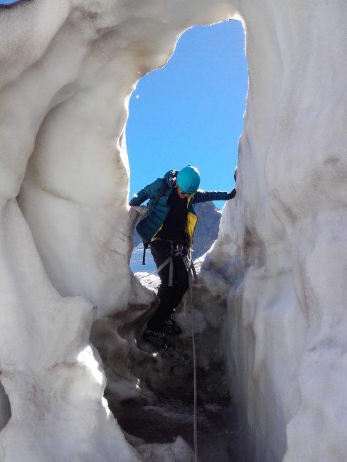 Formations glaciaires au glacier de la Girose.