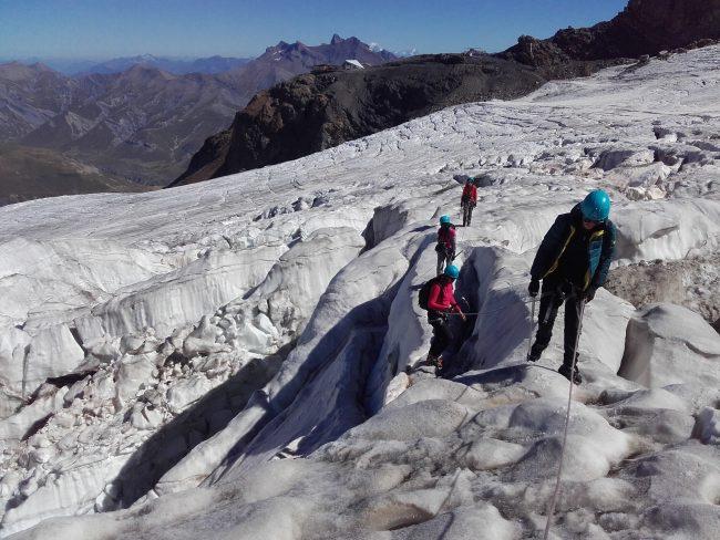 Randonnée sur le glacier de la Girose à la Grave.