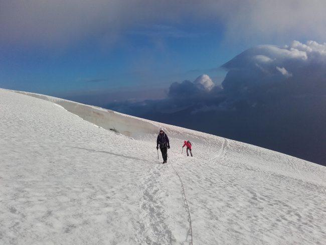 Glacier sous la Meije orientale