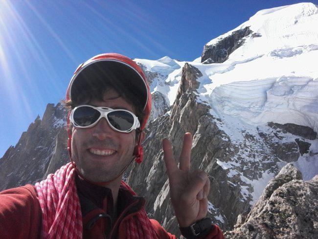 Julien Loste au sommet des pointes Lachenal.