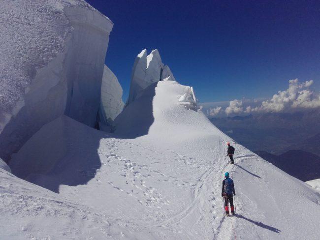 Séracs au Mont Blanc du Tacul.