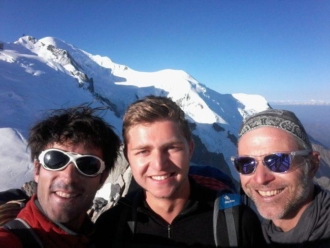 Selfie au sommet de l'aiguille du Midi.