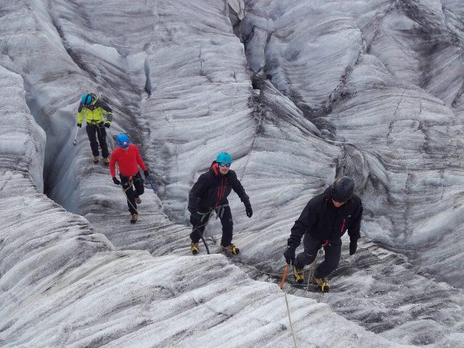Balade sur le glacier du Tour.