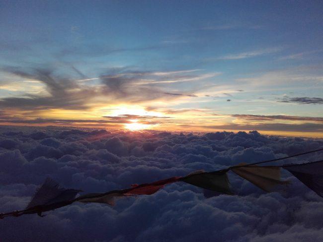 Superbe coucher de soleil du refuge du Goûter.