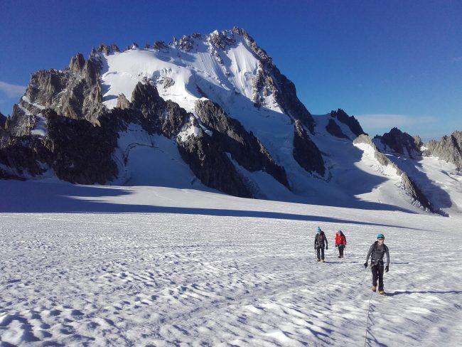 L'Aiguille du Chardonnet et le glacier du Tour.
