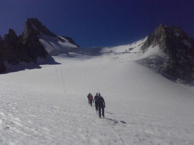 Le glacier du Trient, la petite Fourche et Tête Blanche.