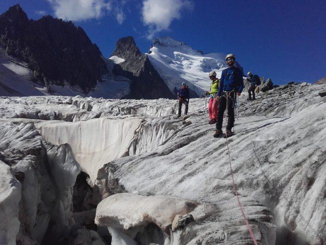 Une crevasse du glacier Blanc.