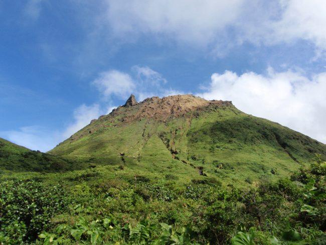 La soufrière en Guadeloupe.