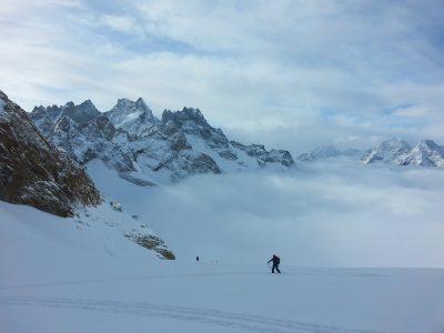 Raid à ski autour de la meije.