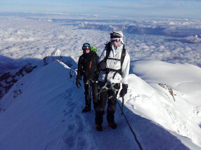Vers le sommet du Mont Blanc.