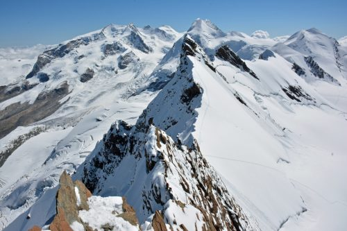Stage alpinisme pointe dufour et 4000 du Mont Rose.
