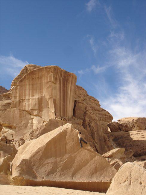 Julien loste à Wadi Rum desert.
