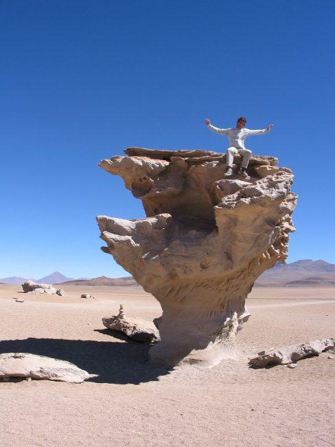 L'arbol de piedra an Bolivie.