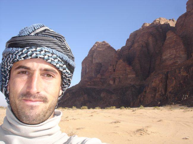 Julien LOSTE à Wadi Rum en Jordanie.