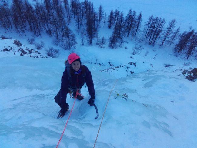 Cascade de glace du monde des glaces.
