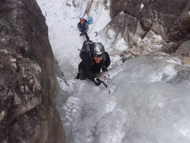 Cascade de glace autour de Briançon.