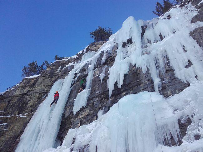 Escalade sur glace à Cervières