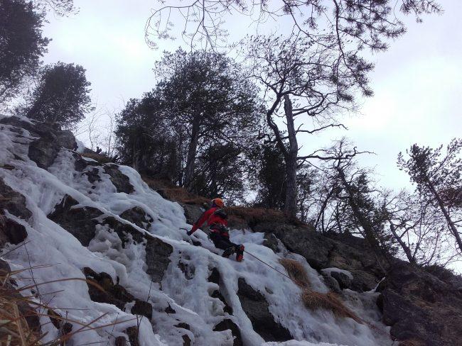 La cascade de glace de Briançon à la Schappe.