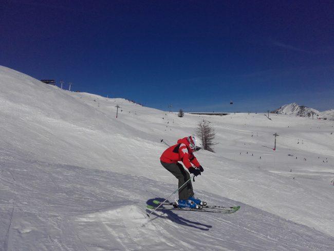 Snowpark et initiation saut à Serre Chevalier.