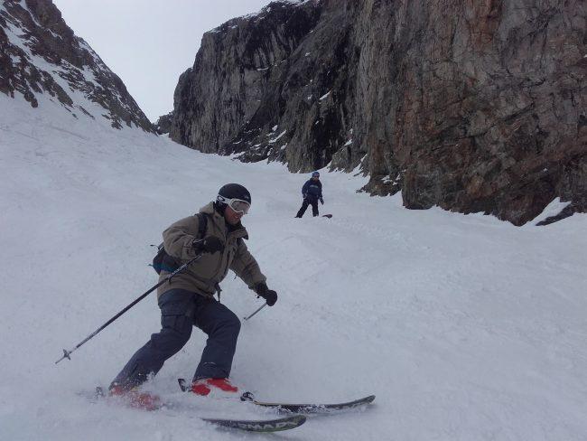 Ski à la Grave avec un guide en 2017.