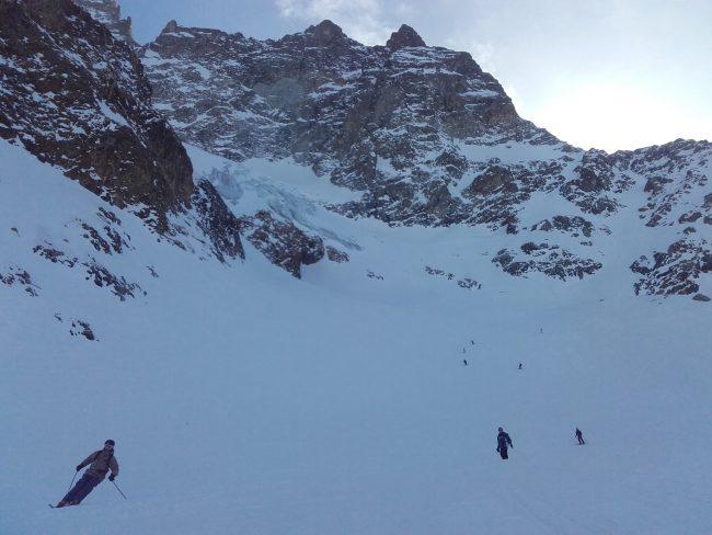 Passage en zone interdite en ski à la Grave.
