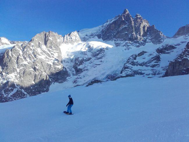 Ski à la Grave sous la face nord de la Meije