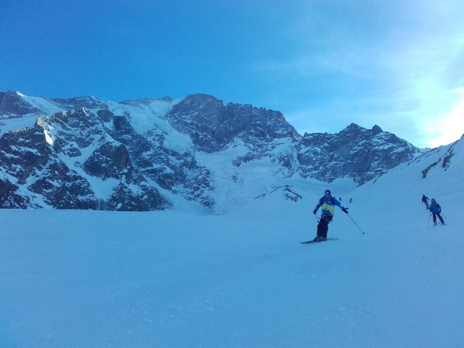 Ski à la Grave sous le Rateau.