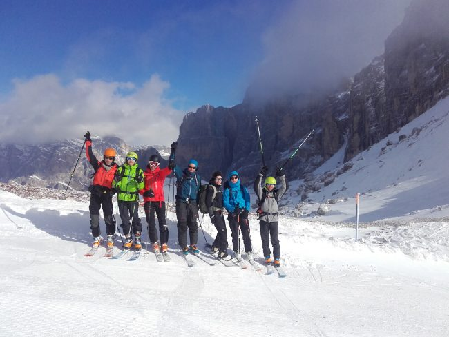La traversée des Dolomites à ski.