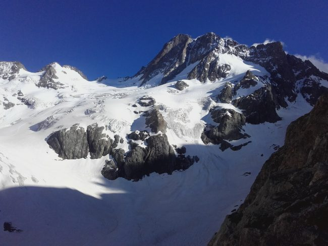 Belles luminosité sur le glacier de la Pilatte.