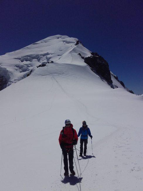 Le Mont Blanc depuis le col du Dôme.