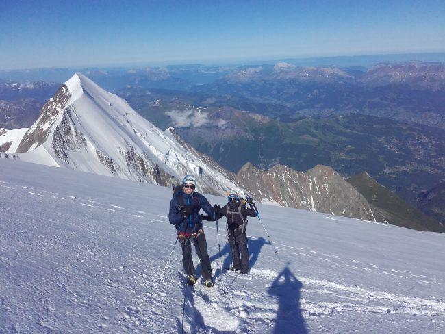 Belle tentative au Mont Blanc.