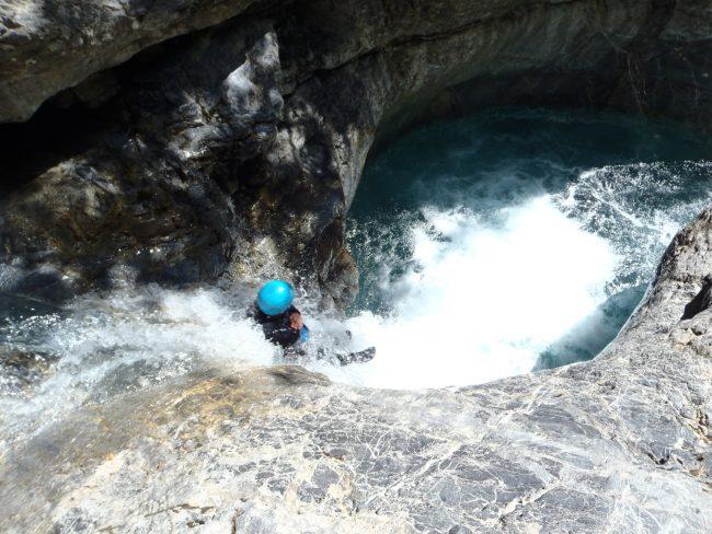 Belle descente de canyoning dans le Fournel.