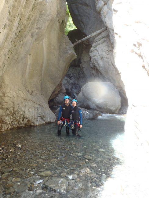 Petite pause photo dans le canyon du Fournel.