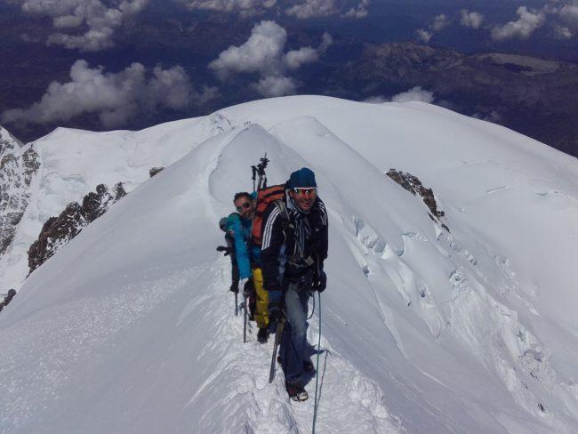 L'arête sommitale du Mont Blanc.