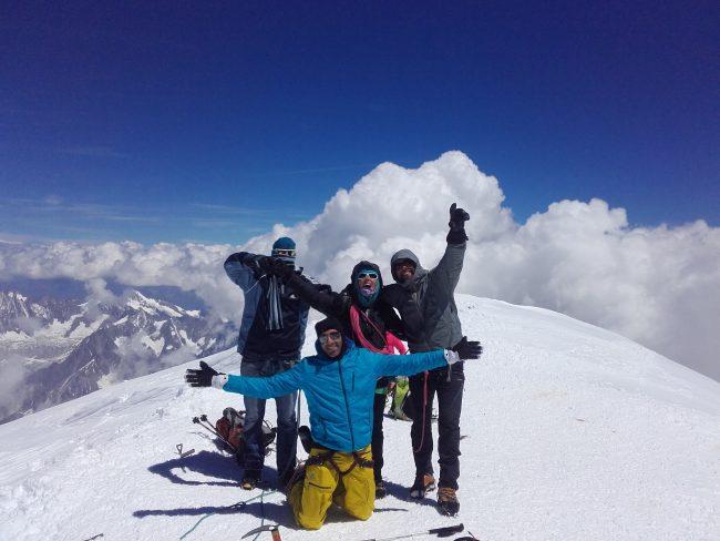 Le sommet du Mont Blanc.
