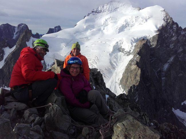 Le sommet de la Roche faurio dans les Ecrins.