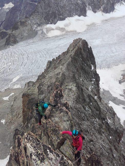 Très esthétique, cette arête sud du pic du Glacier Blanc.