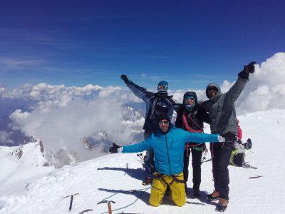 Traversée des 3 Monts et le Mont Blanc avec un guide.
