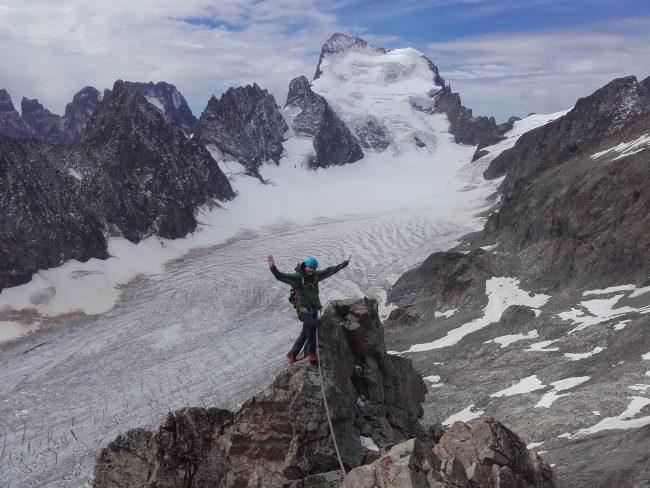 Stage alpinisme sur le glacier Blanc.