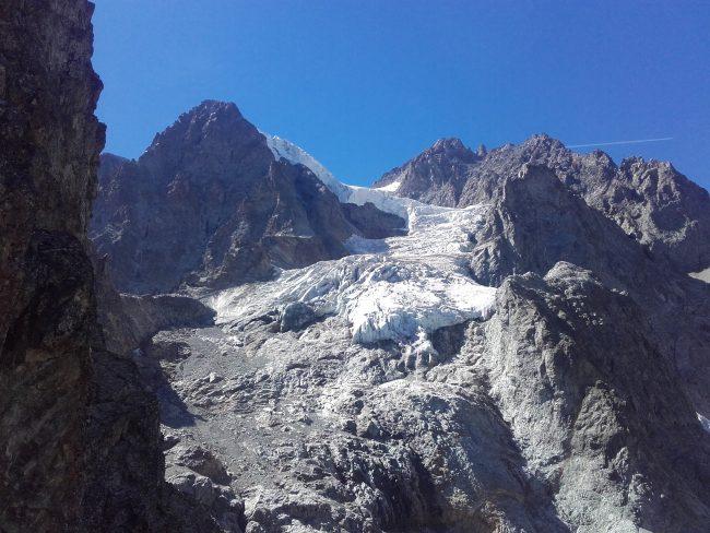Le glacier des Violettes depuis l'aiguille du grand Laus.