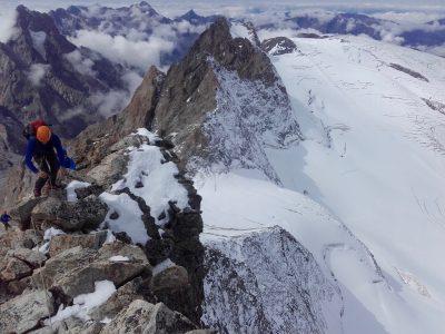 Ascension du rateau ouest avec un guide de haute montagne.