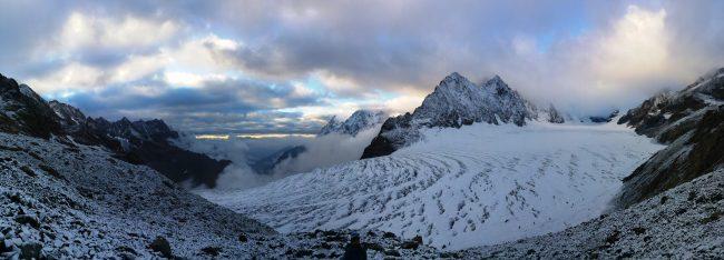 Panoramique du Glacier blanc.