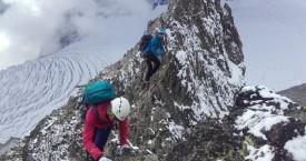 Alpinisme automnal au Glacier Blanc