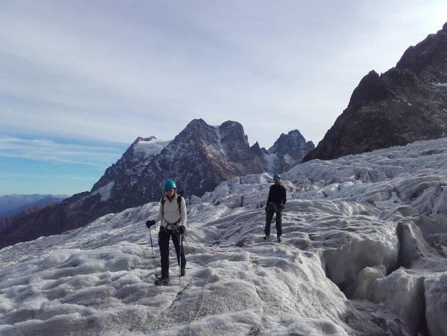 Alpinisme en automne à la Roche faurio.