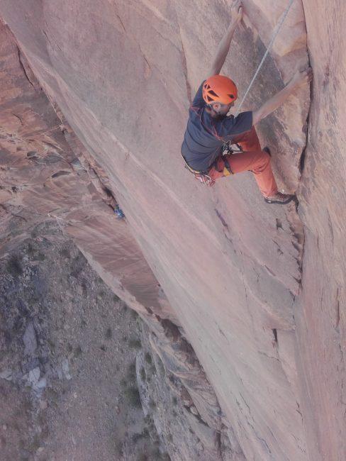 La dernière longueur d'Inferno à Wadi Rum.