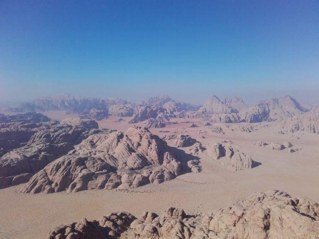 La belle vue du sommet du Jebel Burdah.