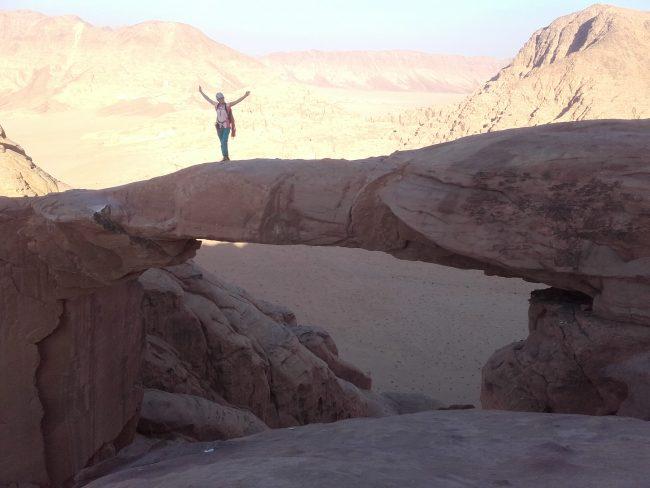 L'arche de Burdah en Jordanie.