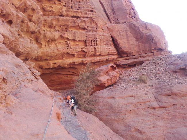 Le début de la grande tracersée de la Sabbah's route.